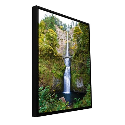 ArtWall Multnomah Falls Gallery-Wrapped Floater-Framed Canvas 16 x 24 (0yor046a1624f)