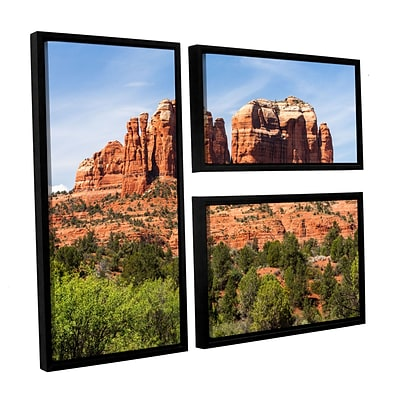 ArtWall Sedona 2 3-Piece Canvas Flag Set 24 x 36 Floater-Framed (0yor054g2436f)