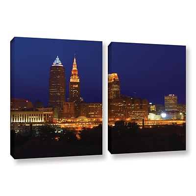 ArtWall Cleveland 15 2-Piece Gallery-Wrapped Canvas Set 32 x 48 (0yor028b3248w)