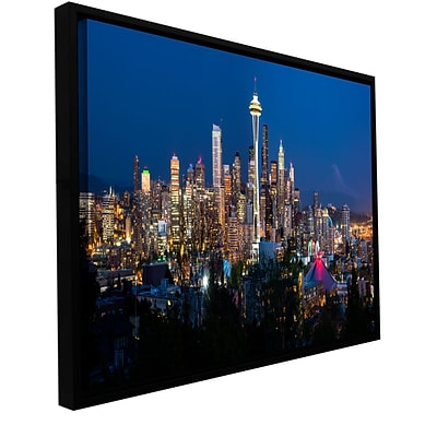 ArtWall Seattle 3 Gallery-Wrapped Canvas 24 x 48 Floater-Framed (0yor052a2448f)
