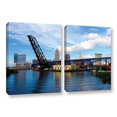 ArtWall Cleveland 12 2-Piece Gallery-Wrapped Canvas Set 18 x 28 (0yor025b1828w)