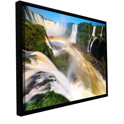 ArtWall Iguassu Falls 2 Gallery-Wrapped Canvas 16 x 24 Floater-Framed (0yor042a1624f)