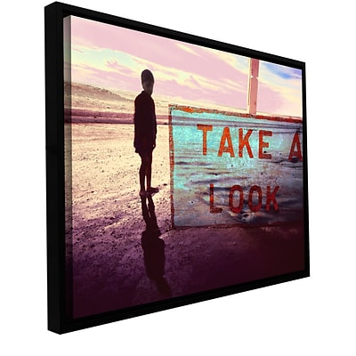 ArtWall Take A Look Gallery-Wrapped Canvas 24 x 32 Floater-Framed (0uhl172a2432f)