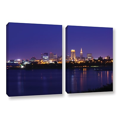 ArtWall Cleveland 18 2-Piece Gallery-Wrapped Canvas Set 18 x 28 (0yor031b1828w)