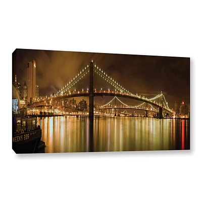 ArtWall Brooklyn Bridge Gallery-Wrapped Canvas 12 x 24 (0yor012a1224w)