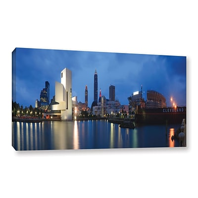 ArtWall Cleveland! Gallery-Wrapped Canvas 12 x 24 (0yor048a1224w)