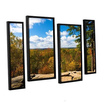 ArtWall Virginia Kendall 4-Piece Canvas Staggered Set 36 x 54 Floater-Framed (0yor060i3654f)