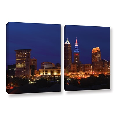 ArtWall Cleveland 5 2-Piece Gallery-Wrapped Canvas Set 18 x 28 (0yor018b1828w)
