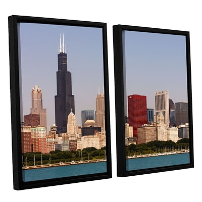 ArtWall Chicago 2-Piece Canvas Set 32 x 48 Floater-Framed (0yor013b3248f)