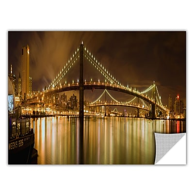 ArtWall Brooklyn Bridge Art Appeelz Removable Wall Art Graphic 18 x 36 (0yor012a1836p)