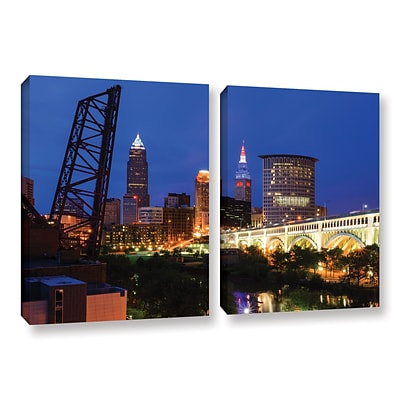 ArtWall Cleveland 21 2-Piece Gallery-Wrapped Canvas Set 32 x 48 (0yor034b3248w)