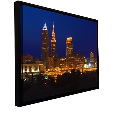 ArtWall Cleveland 15 Gallery-Wrapped Canvas 16 x 24 Floater-Framed (0yor028a1624f)