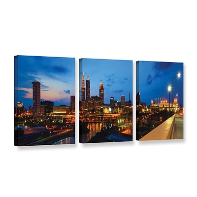 ArtWall Cleveland 8 3-Piece Gallery-Wrapped Canvas Set 36 x 72 (0yor021c3672w)