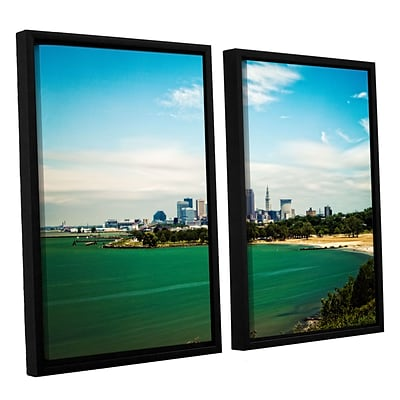 ArtWall Cleveland 22 2-Piece Canvas Set 32 x 48 Floater Framed (0yor035b3248f)