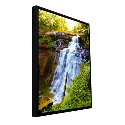 ArtWall Brandywine Falls Gallery-Wrapped Canvas 12 x 18 Floater-Framed (0yor009a1218f)