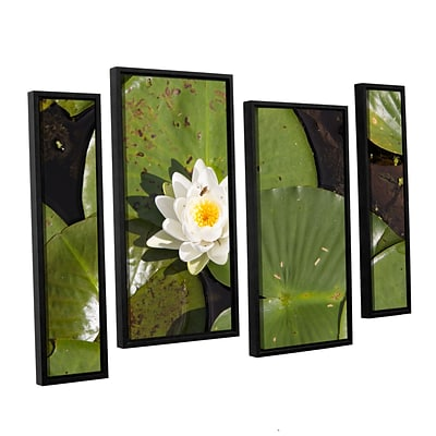 ArtWall Lily Pad 4-Piece Canvas Staggered Set 36 x 54 Floater-Framed (0yor045i3654f)
