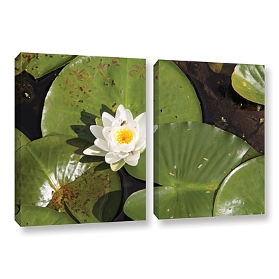 ArtWall Lily Pad 2-Piece Set 32 x 48 Gallery-Wrapped Canvas (0yor045b3248w)