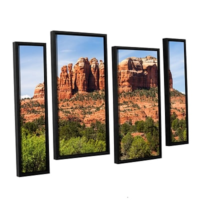 ArtWall Sedona 2 4-Piece Canvas Staggered Set 24 x 36 Floater-Framed (0yor054i2436f)