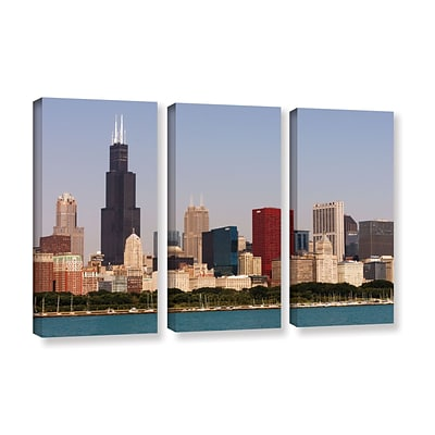 ArtWall Chicago 3-Piece Gallery-Wrapped Canvas Set 36 x 54 (0yor013c3654w)