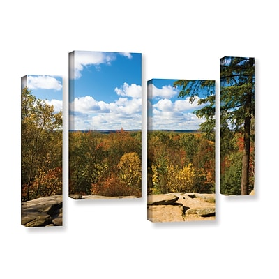 ArtWall Virginia Kendall 4-Piece Gallery-Wrapped Canvas Staggered Set 36 x 54 (0yor060i3654w)