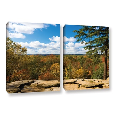 ArtWall Virginia Kendall 2-Piece Gallery-Wrapped Canvas Set 18 x 28 (0yor060b1828w)