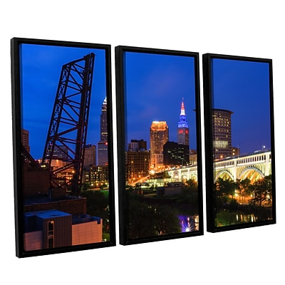 ArtWall Cleveland 21 3-Piece Canvas Set 36 x 54 Floater-Framed (0yor034c3654f)