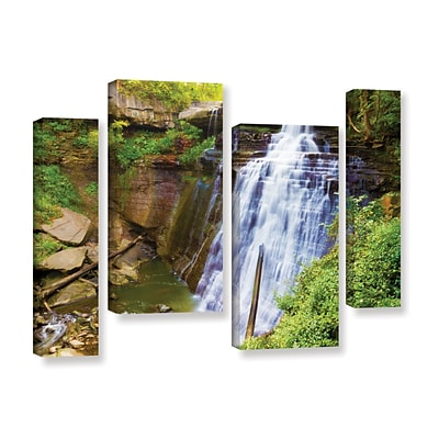 ArtWall Brandywine Falls 2 4-Piece Gallery-Wrapped Canvas Staggered Set 36 x 54 (0yor008i3654w)