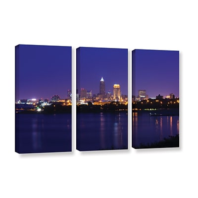 ArtWall Cleveland 18 3-Piece Gallery-Wrapped Canvas Set 36 x 54 (0yor031c3654w)