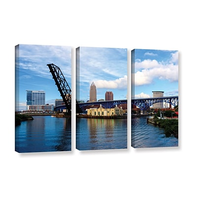 ArtWall Cleveland 12 3-Piece Gallery-Wrapped Canvas Set 36 x 54 (0yor025c3654w)