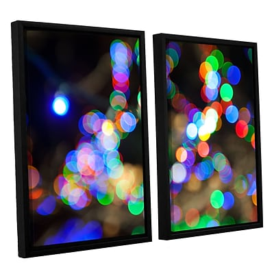 ArtWall Bokeh 2 2-Piece Canvas Set 32 x 48 Floater-Framed (0yor006b3248f)