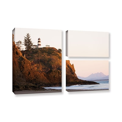 ArtWall Lighthouse 3-Piece Gallery-Wrapped Canvas Flag Set 24 x 36 (0yor044g2436w)