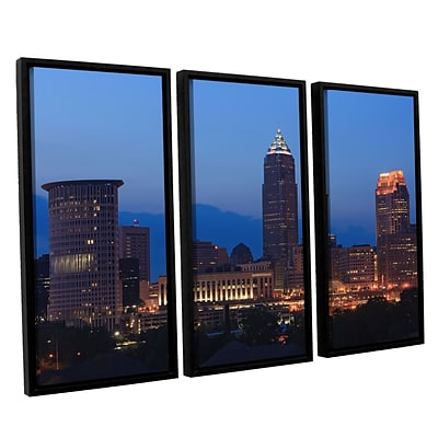 ArtWall Cleveland 17 3-Piece Canvas Set 36 x 54 Floater Framed (0yor030c3654f)
