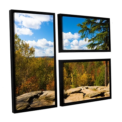 ArtWall Virginia Kendall 3-Piece Canvas Flag Set 24 x 36 Floater-Framed (0yor060g2436f)
