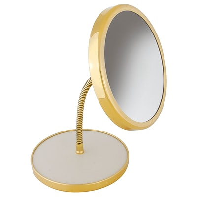Frasco Polished Brass Beauty Mirror 5x Magnification 13.75 X 6.75 (FRA-66299)