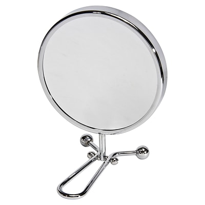 Naturally by Kingsley 10x Magnification Polished Chrome Beauty Mirror 11.25 x 6 (M-101)