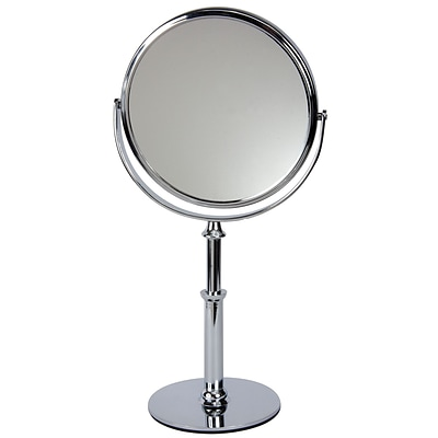 Naturally by Kingsley 10x Magnification Polished Beauty Mirror 12 X 7, Chrome (M-107)