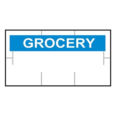 Garvey® GROCERY RC Printed Label, White/Blue, 10 mm x 19 mm, 17,000 Labels/Sleeve (GS1910)