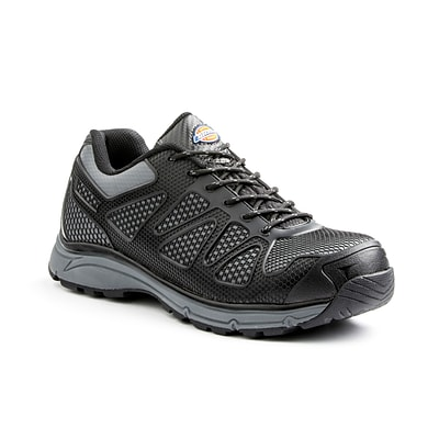 DICKIES Fury Low Steel-Toe EH Work Shoe, 7.5, Black