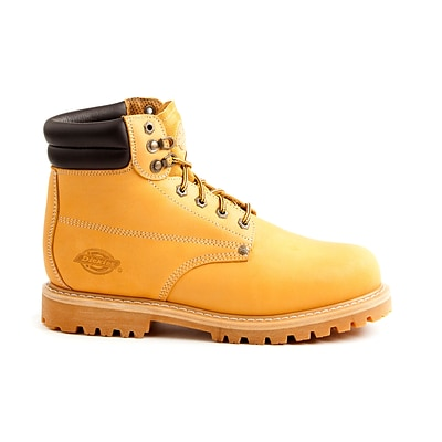 DICKIES Mens Raider Steel-Toe Work Boots, 9, Wheat