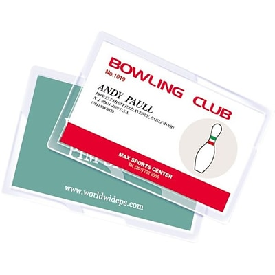 Royal Sovereign  5 mil Thermal Laminating Pouch Film; Business Card, 100/Pack (RF05BUSC0100)