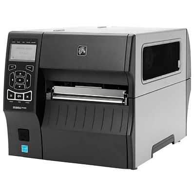 Zebra ZT400 Series Direct/Thermal Transfer Monochrome Label Printer with Rewinder; 12 ips, 300 dpi (ZT42063-T410000Z)