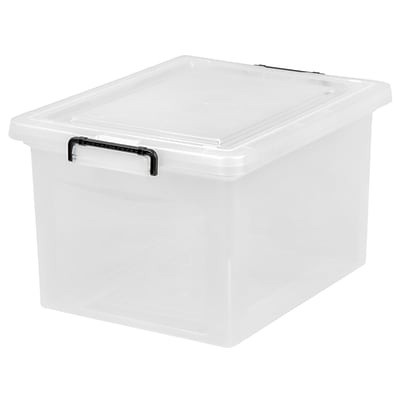 IRIS® 36 Quart Letter   Legal Size Plastic File Box with Buckles, 6 Pack (139751)