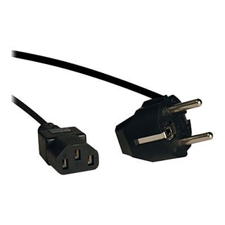 Tripp Lite 6 Black 2-Prong European Computer Power Cord (P054-006)
