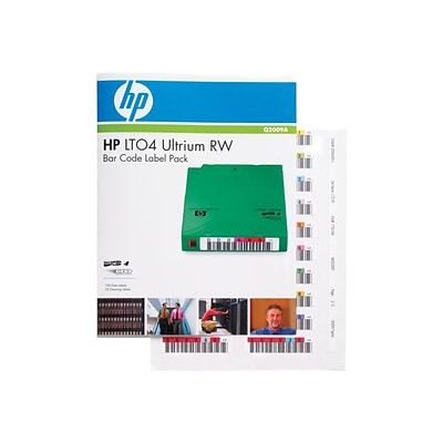 HP® Read/Write Bar Code Label for LTO-4 Ultrium; 110/Pack (Q2009A)