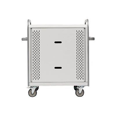 Bretford® Pulse™ L Concrete Steel Notebook Mobile Cart with Removable Panel (MDMLAP30BP-CTAL)