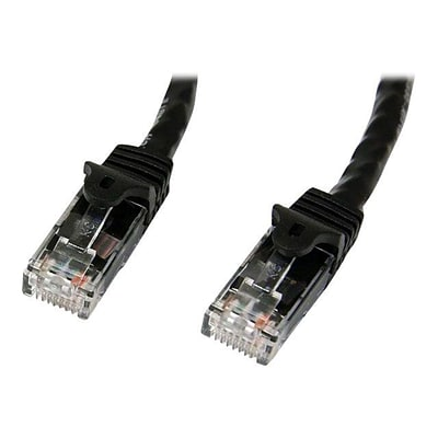 StarTech 5 Black Gigabit Snagless RJ45 UTP Cat6 Patch Cable, 5 Patch Cord