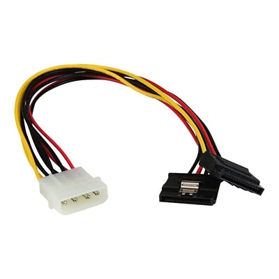 StarTech PYO2LP4LSATA 12 LP4 to 2x Latching SATA Y Cable Splitter Adapter; 4-Pin Molex to Dual SATA