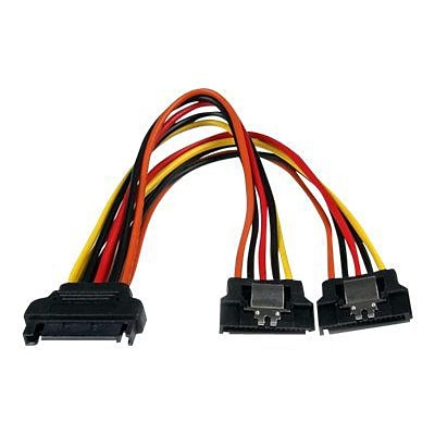 StarTech PYO2LSATA 6 Latching SATA Power Y Splitter Cable Adapter; M/F