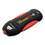 Corsair® Flash Voyager® GT 32GB 100 Mbps Write/240 Mbps Read USB 3.0 Flash Drive; Black/Red