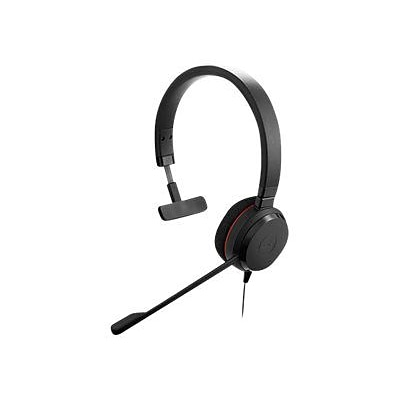 Jabra (4993-823-109) EVOLVE 20 MS Over-the-Head Wired Mono Headset w/ Noise Cancelling Microphone